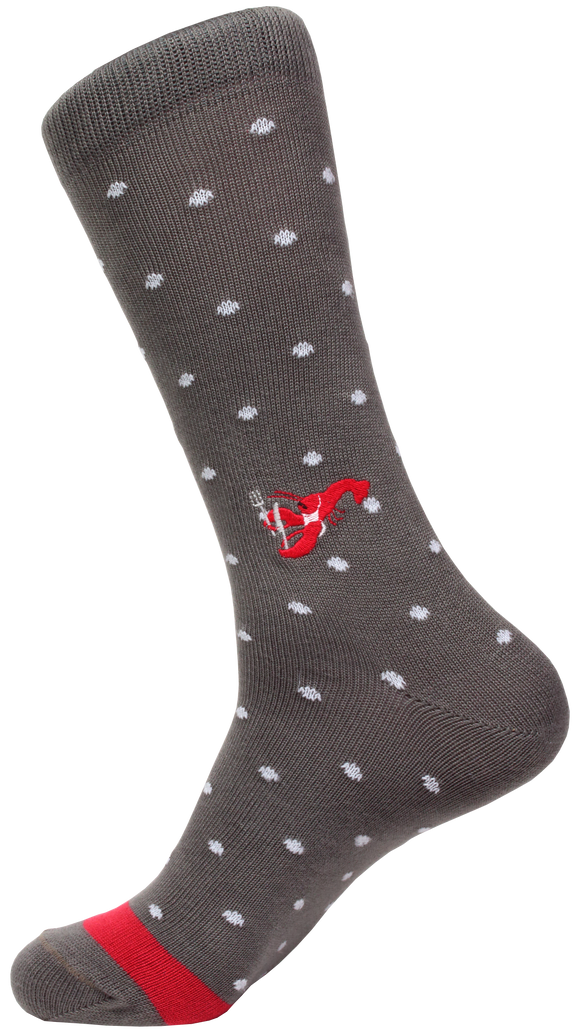Soxfords Premium Pima Cotton Embroidered Socks - Lobster Boil