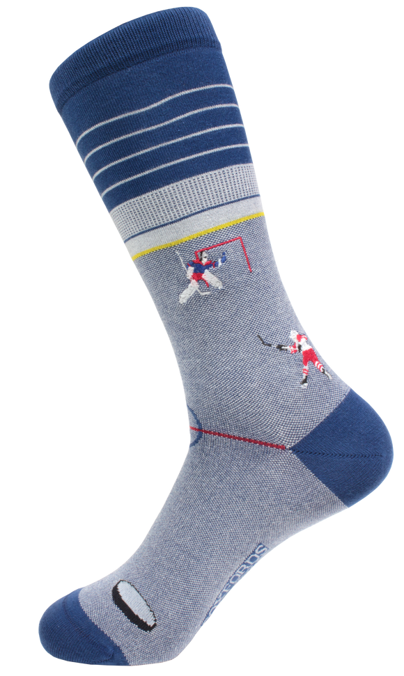 Soxfords Premium Pima Cotton Embroidered Socks -Slap Shot