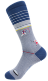 Soxfords Premium Pima Cotton Embroidered Socks - Slap Shot
