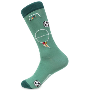 Soxford's Pima Cotton Embroidered Socks - Soccer