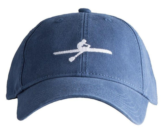 Harding Lane Needlepoint Baseball Cap Crew on  Navy