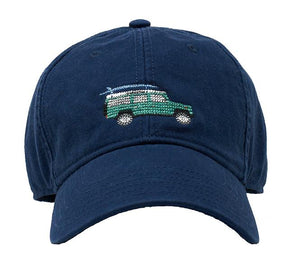 Harding Lane Needlepoint Baseball Cap Defender on Navy