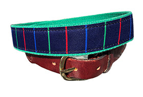 Men's Custom Canvas Ribbon Belt The  Stripper - Designs by Lillie