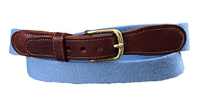 Men's Monogrammed Classic Solid Dusty Blue Surcingle Belt | Designs by Lillie