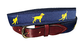 Yellow Lab Custom Canvas Ribbon Belt | Designs by Lillie