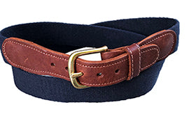 Monogrammed Classic Solid Navy Surcingle Belt |Designs by Lillie