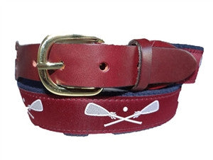 Popular maroon Lacrosse belts as seen at Fessenden, Fay and St Marks