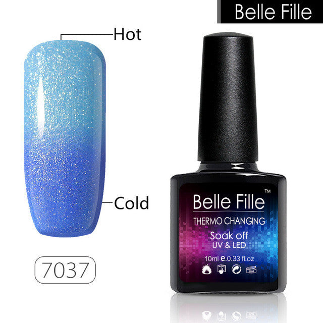 69c480dbe7d BELLE FILLE Changing color Thermo Temperature Gel nail polish 10ml UV  Varnish Lacquer Home Manicure soak off fingernail polish