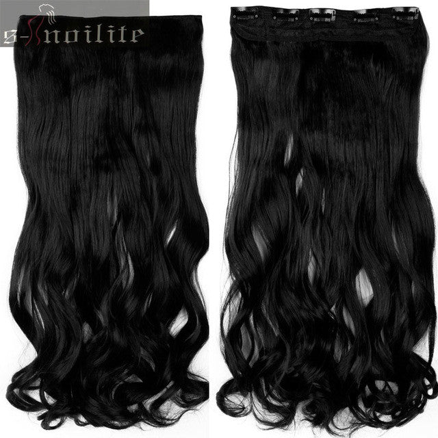 S Noilite 18 28 Curly 34 Full Head Clip In Hair Extensions