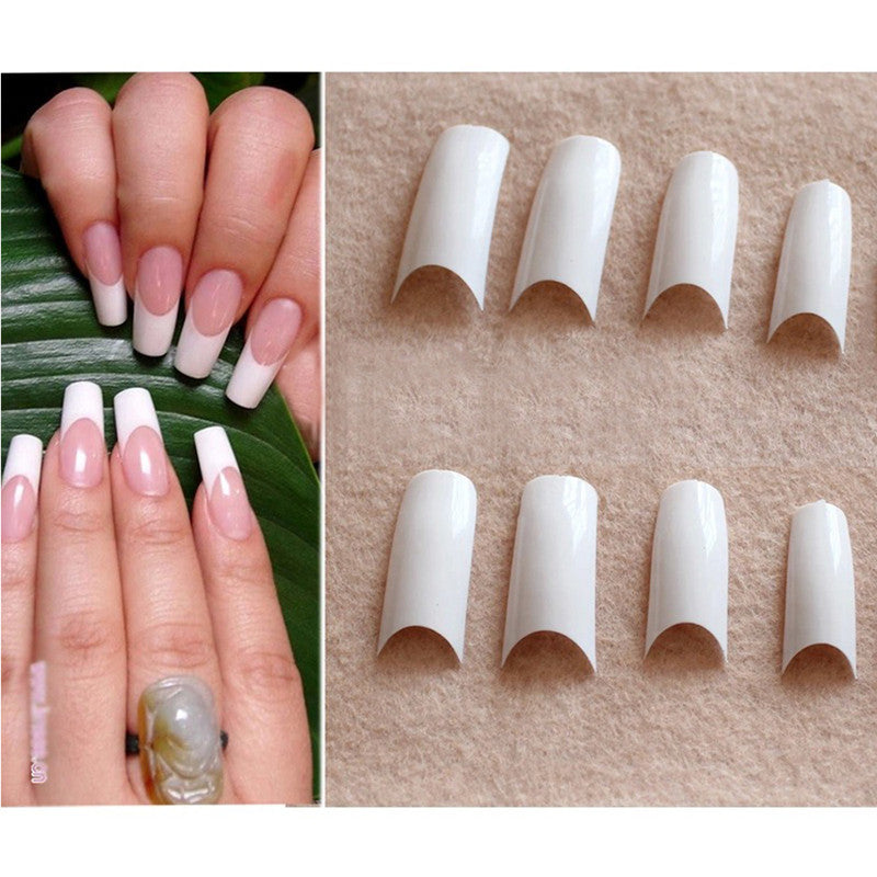 500pcs False Nails French Nail Tips Smile French Manicure Fake Nail ...