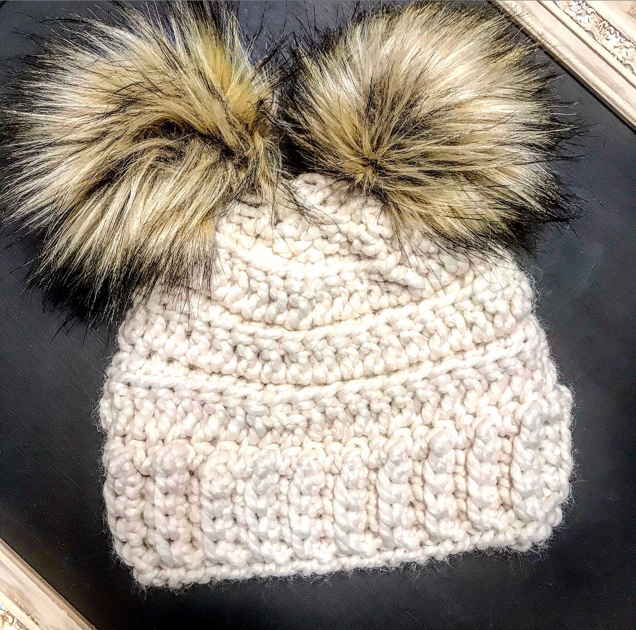 Child Double Pom Lennox Beanie