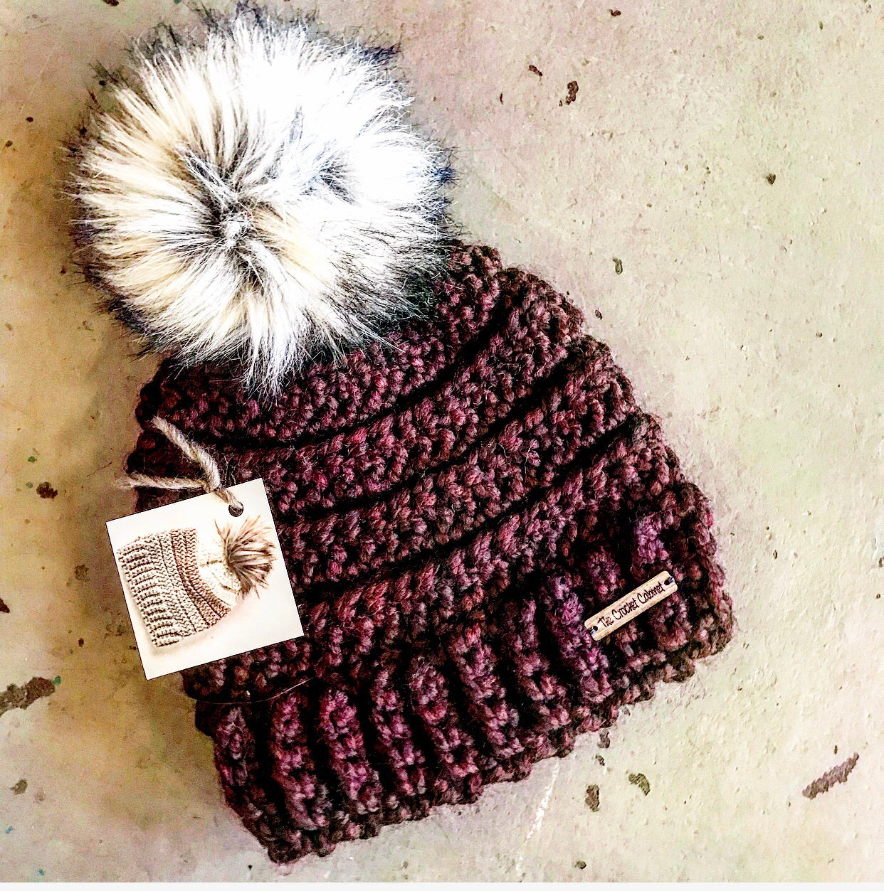 Child Lennox Beanie-Merlot