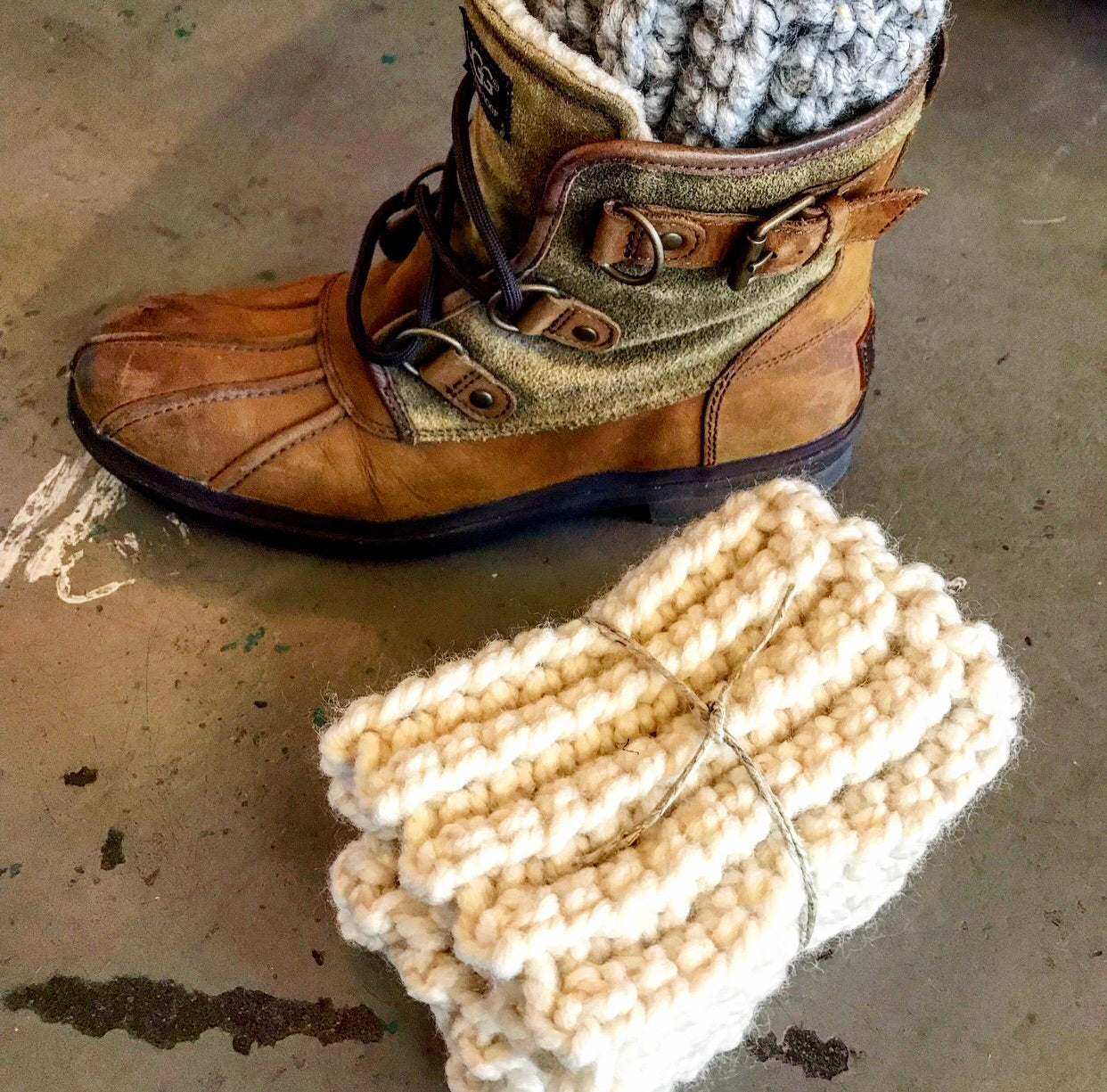 Adult Boot Cuffs- Ivory