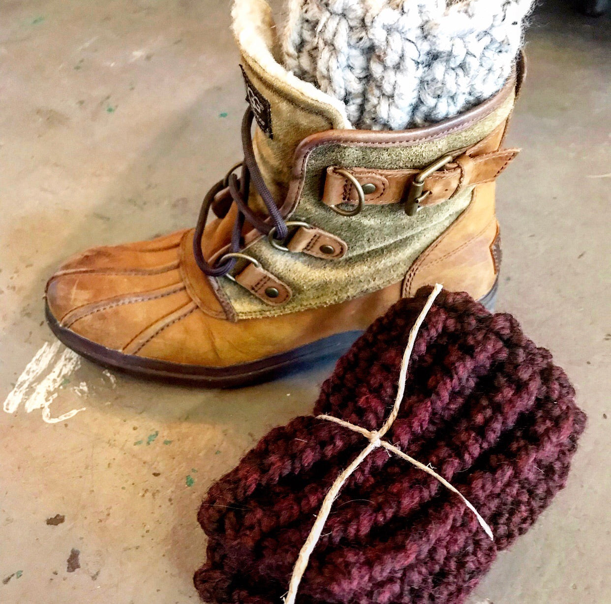 Adult Boot Cuffs-Merlot