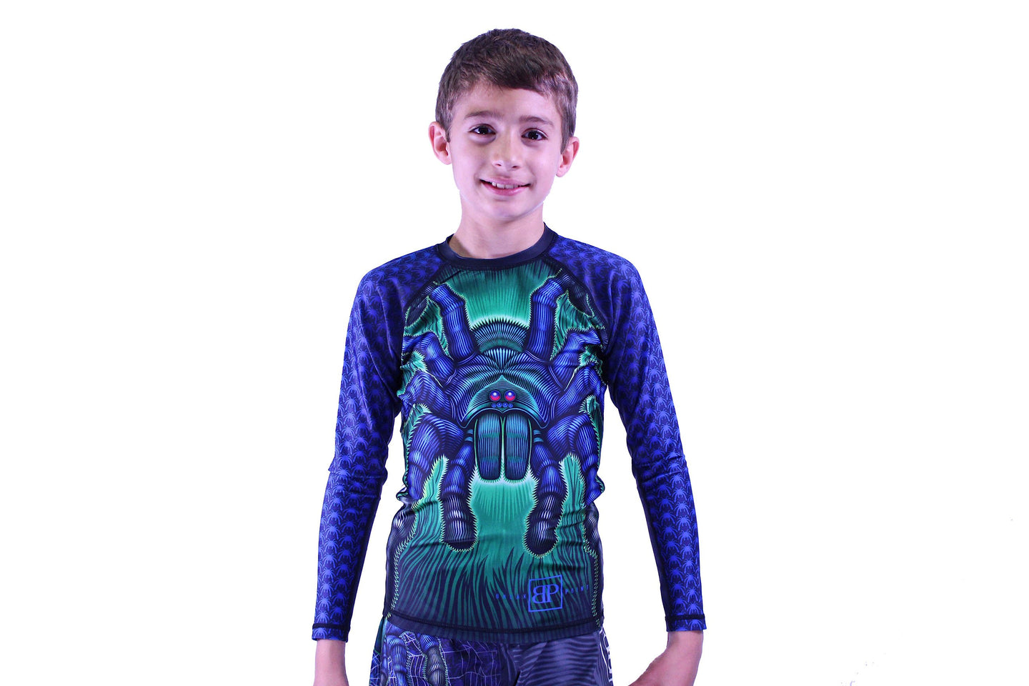 Break Point - Tarantula Kids Long Sleeve Jiu Jitsu Rash Guard - Jitsu Armor