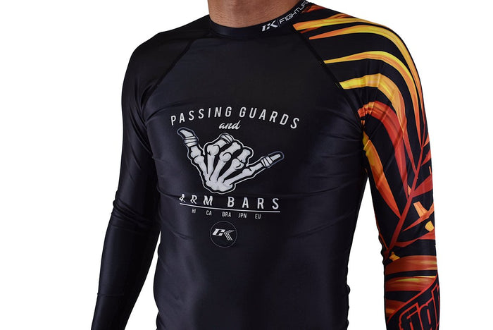CK Fight Life - Dem Bones Fire Jiu Jitsu Rash Guard