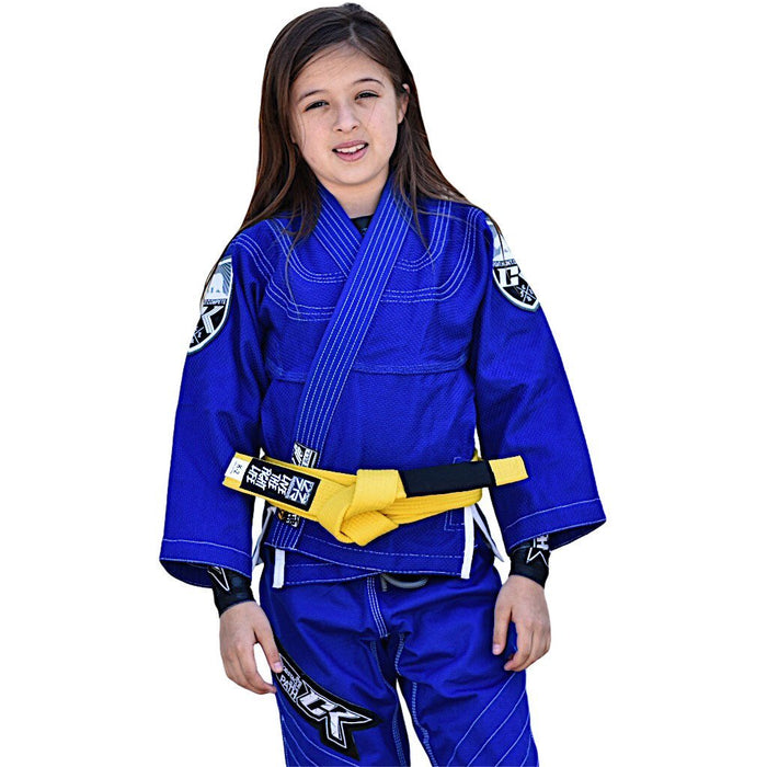 CK Fight Life - Kids Ultra-Light Freshman 2.0 Jiu Jitsu Gi - Blue - Jitsu Armor