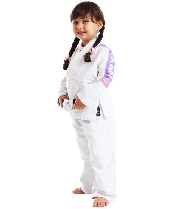 Vulkan - Kids Pro Light White / Lilac Jiu Jitsu Gi