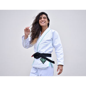 Break Point BP Diamond Girls Jiu Jitsu Gi - White - Jitsu Armor