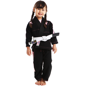 Vulkan - Ultra Light Kids Jiu Jitsu Gi - Black/Pink - Jitsu Armor