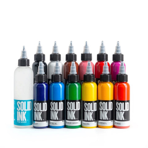 Solid Ink: 12 Color Set - Twelve One Ounce Bottles