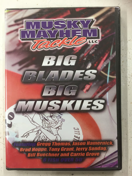 Musky Mayhem Tackle llc Big Blades Big Muskies DVD - Musky Mayhem Tackle llc