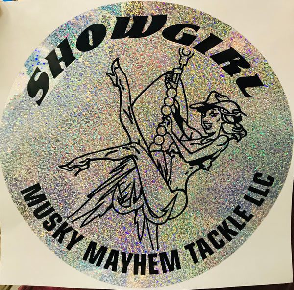 "Round Holographic Showgirl 12"" Decal"