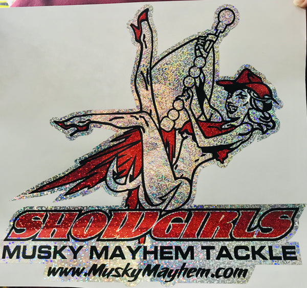 "Holographic Showgirl 12"" Decal"