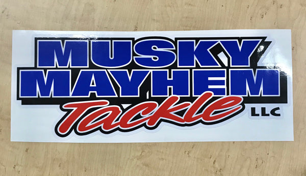 "Musky Mayhem Tackle llc 12"" Decal"