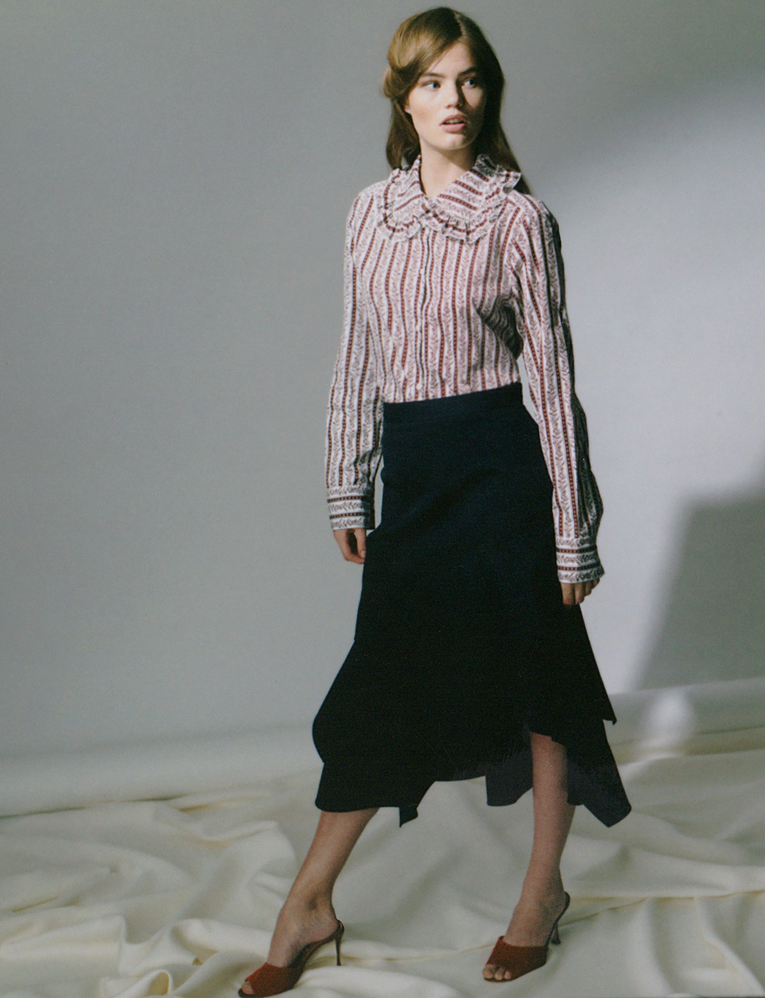 See by Chloe Large Collar Shirt, Peter Pilotto Cotton Gabardine Skirt at The Line