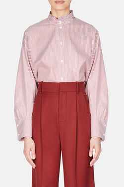 Romane Shirt - Red/White Stripe