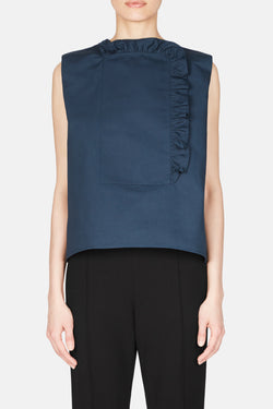 Chantilly Blouse - Prussian Blue