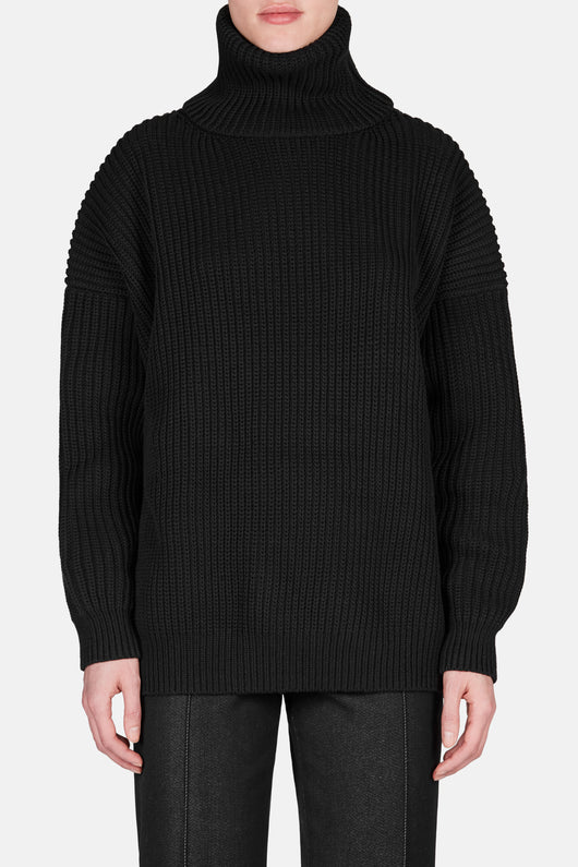 Piphy Chunky Turtleneck Sweater - Black