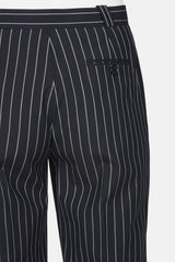 Ticah Striped Suiting Trouser - Dark Navy/Off White