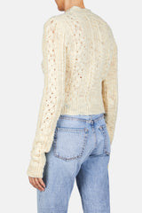 Cropped Pullover Sweater - Off White