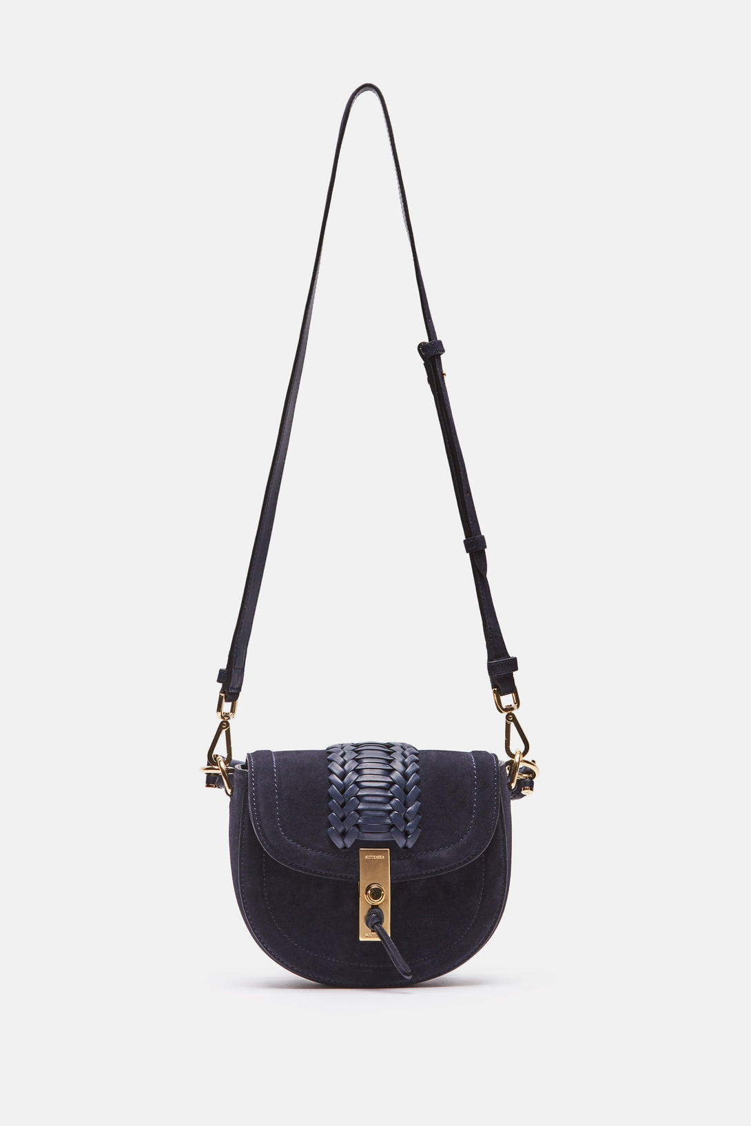 Ghianda Tubular Top Handle Bag Mini - Navy