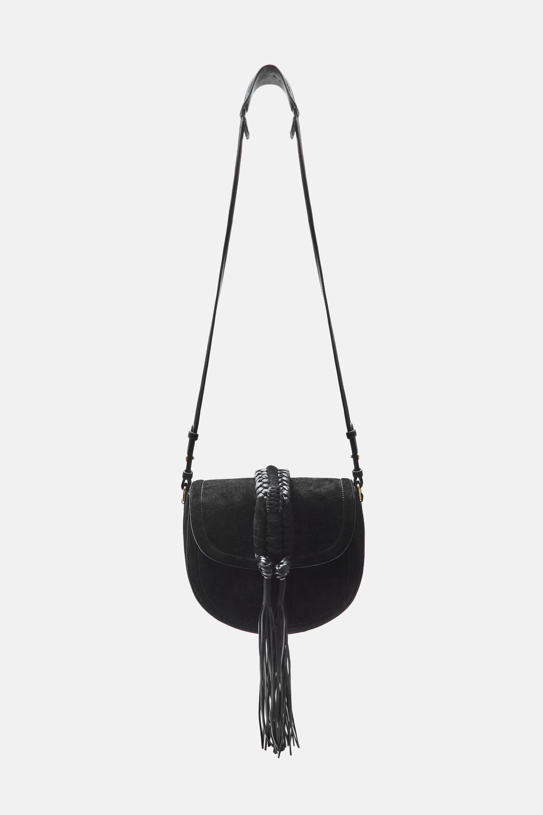Ghianda Knot Saddle Bag Small - Black