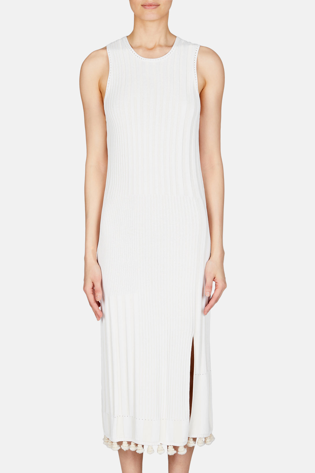Lutetia Knit Tank Dress - Ivory