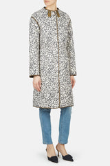 Creedence Reversible Long Puffer Coat - Pine/Fawn