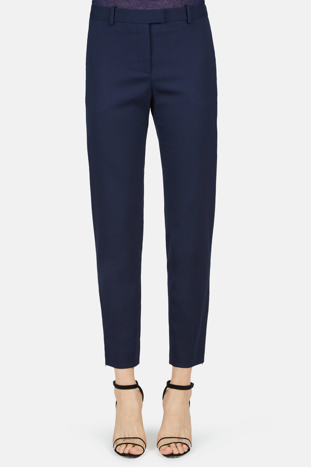 Henri Cropped Slim Pant - Berry Blue