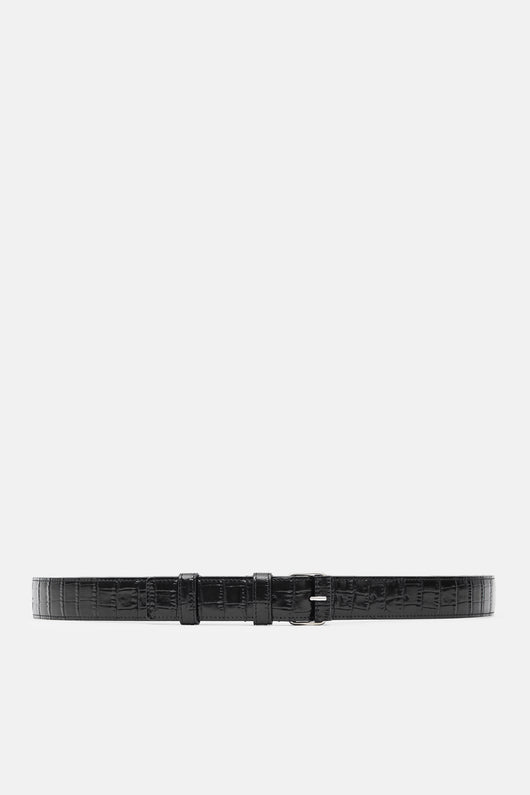Croc Thin Belt - Black