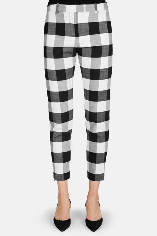 Henri Check Cropped Pant - Black/White