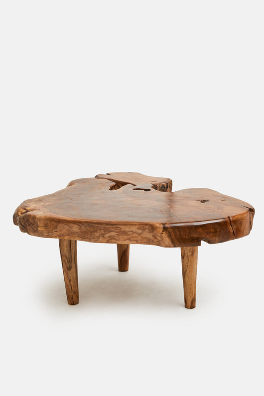 Organic Style Teak Coffee Table or Side Table