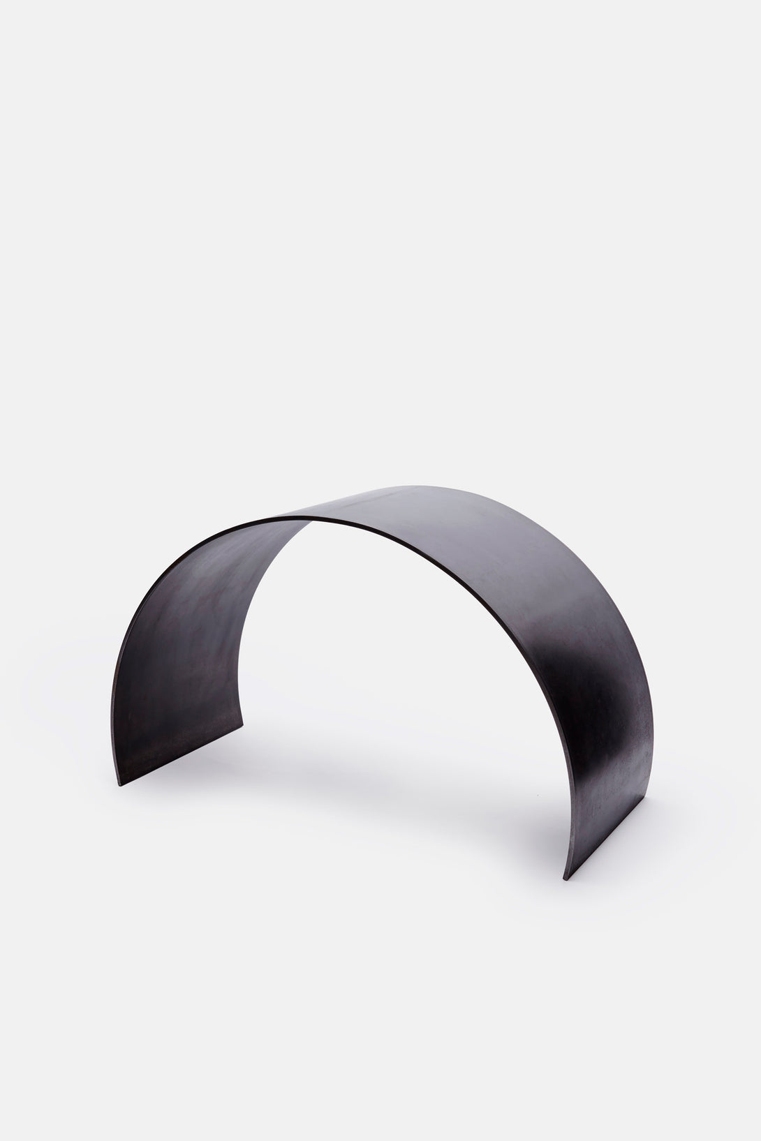 Waxed Steel Curved Arc Stool