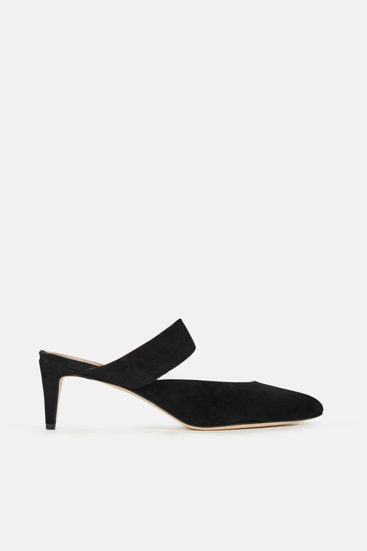 Vaie Heeled Mule - Black