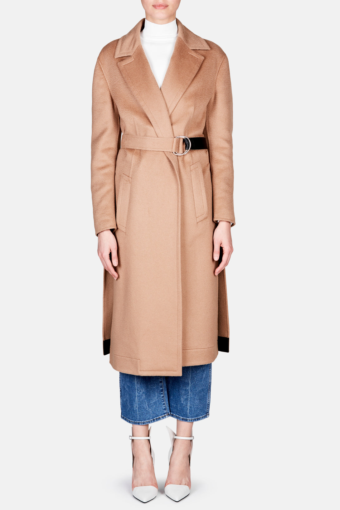 Double Face Wool Coat - Camel