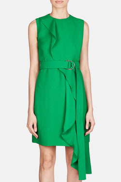 Ruffle Tie Dress - Spring Green