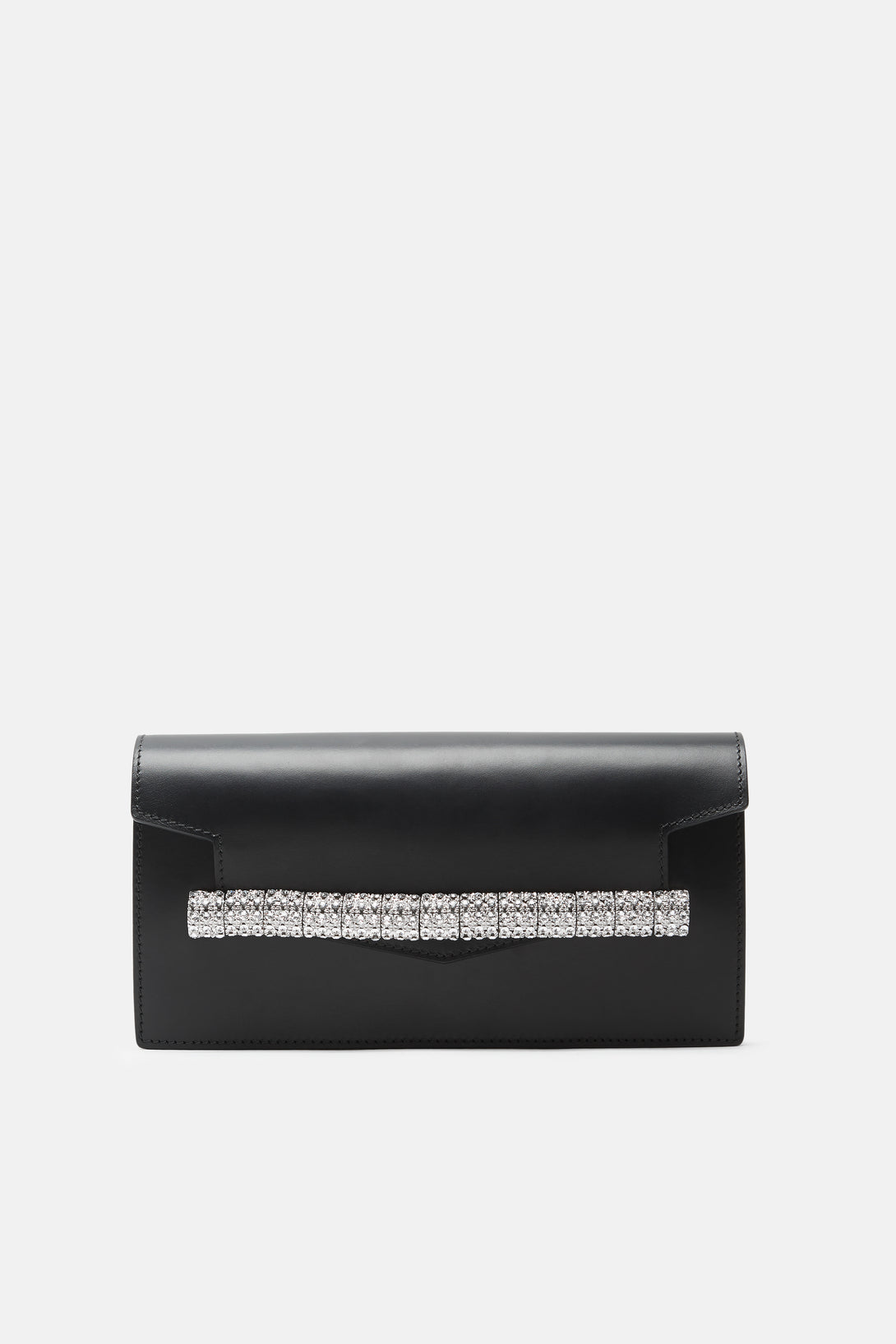 Crystal Strap Clutch - Black