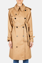 Waisted Flare Trench Coat - Tabacco