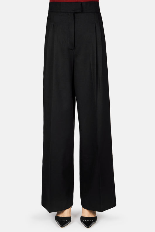 High Waist Cropped Pant - Black